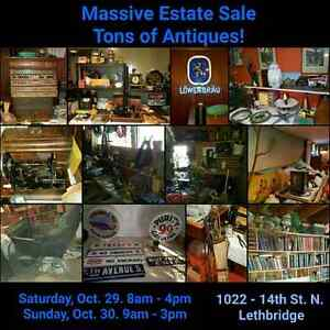 HUGE ANTIQUE ESTATE SALE  OCT 29,30 LETHBRIDGE., AB