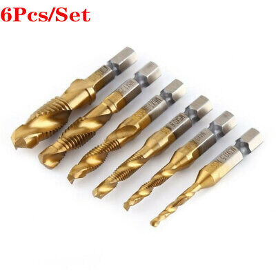 Countersink Drill Bit Set 14 Hex Shank Hss Metric Hand Screw Thread Tap Taper