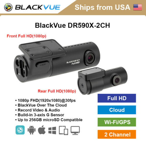 BlackVue 2 Channel DR590X-2CH Full HD WiFi 32GB Dashcam