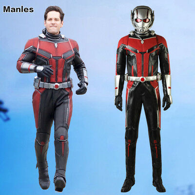 Ant-Man and the Wasp Costume Scott Lang Cosplay Halloween Leather Fancy Dress