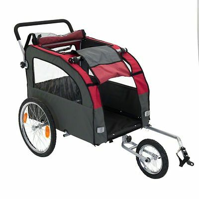 Large Dog Bike Trailer Pushchair Carrier Stroller Jogging Kit Pet Bicycle Ride !