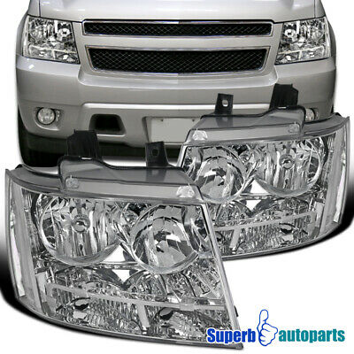 For 2007-2013 Avalanche 2007-2014 Tahoe Suburban Headlights Head Lamps