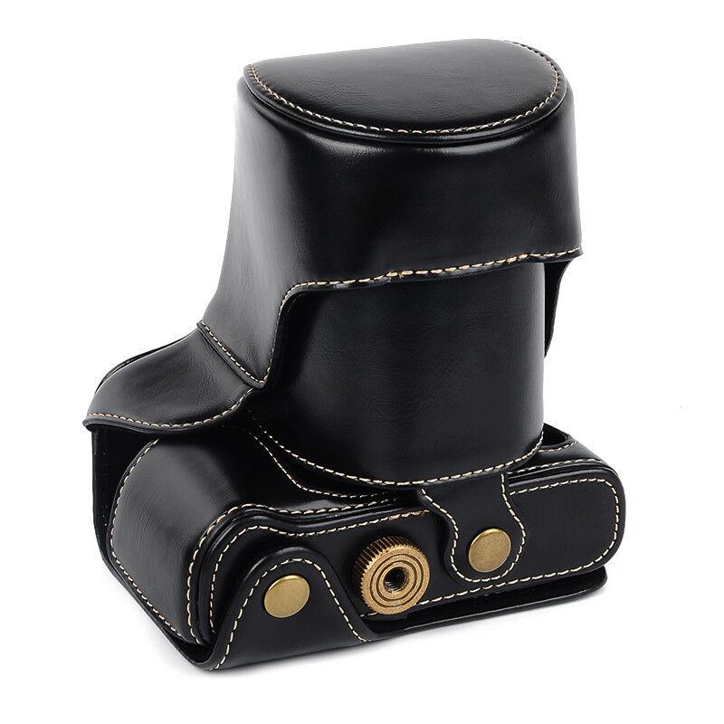 Para Fuji Fujifilm X-T10 XT10 X-T20 XT20 Protector Caso Bolsa De Cámara De Cuero PU Superior