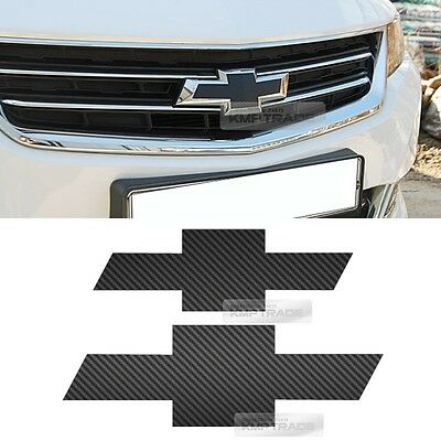 Front Rear Black Carbon Emblem Badge Decal Sticker For CHEVROLET 2014-18 Impala