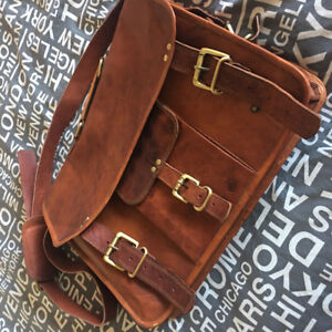 Vintage Leather Soft Laptop Briefcase