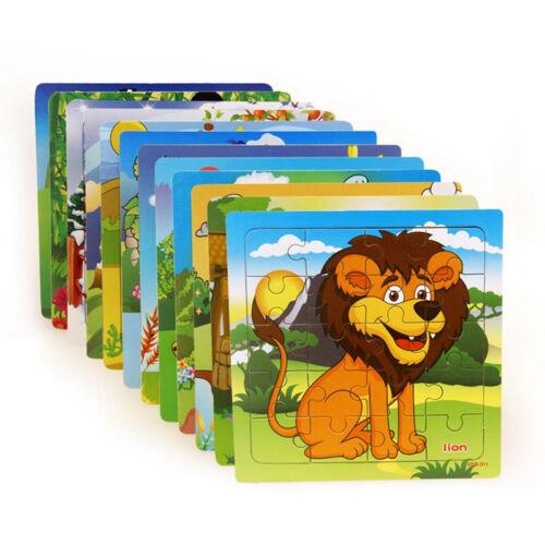 1Set/20pcs Tiere Block Puzzle, 3D-Puzzles, Puzzles aus Holz, Kleinkind Spielzeug