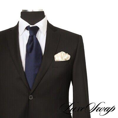 RECENT LNWOT Pal Zileri Lab Black Twill 2B 2V FF Jacket Pants 2 Piece Suit 52 R
