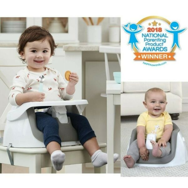 BNIB: Regalo 2-in-1 Booster Seat and Grow with Me Floor Seat with Removable Feeding Tray