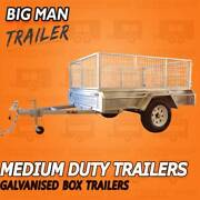 7x4 Single Axle Trailer Galvanised Cage White Wheel HOT DIPPED Dandenong South Greater Dandenong Preview