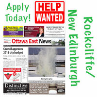 News Carrier Wanted in Rockcliffe/New Edinburgh (Ottawa East)