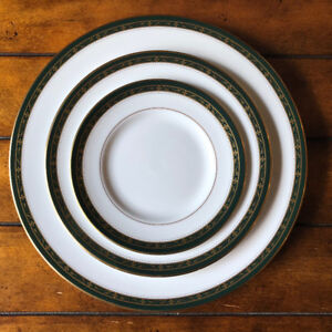 "12 place settings of beautiful Royal Worcester ""Odette Green""."