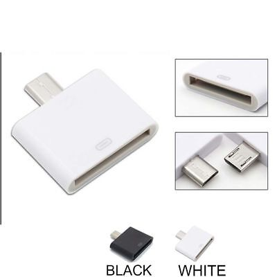 For iPhone 4 4S Micro 5Pin USB Male To 30Pin Female Connector Adapter