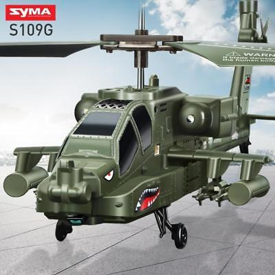 Syma S109G 3.5CH Infrared Control Indoor Mini RTF Apache RC Helicopter with Gyro ()