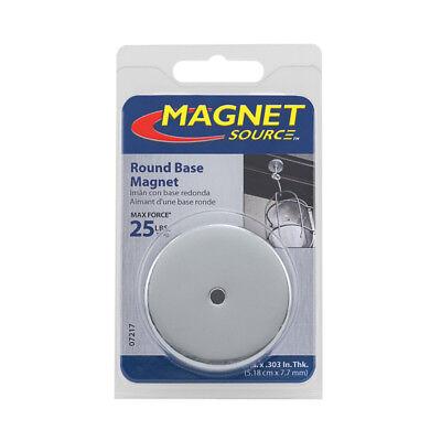 "NEW MASTER MAGNETIC 7217 25LB 2"" LIFT ROUND MAGNET BASE 9388091"