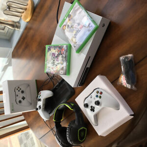 Xbox  with 2 games