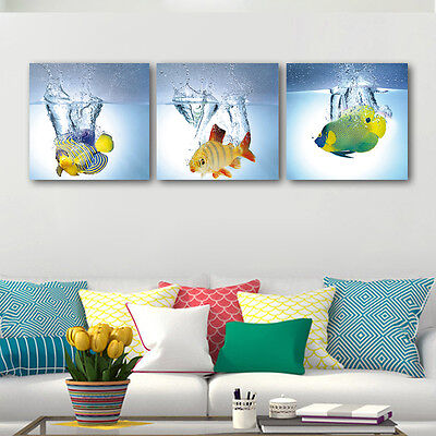 Abstract Canvas Prints Home Office Decor Wall Art Painting Picture Fish Photo
