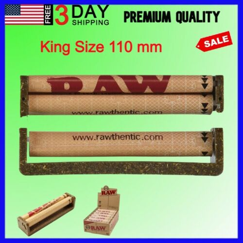 Hand Cigarette Rolling Machine Tobacco Herb Raw Roller Maker Fast King TOP 110mm
