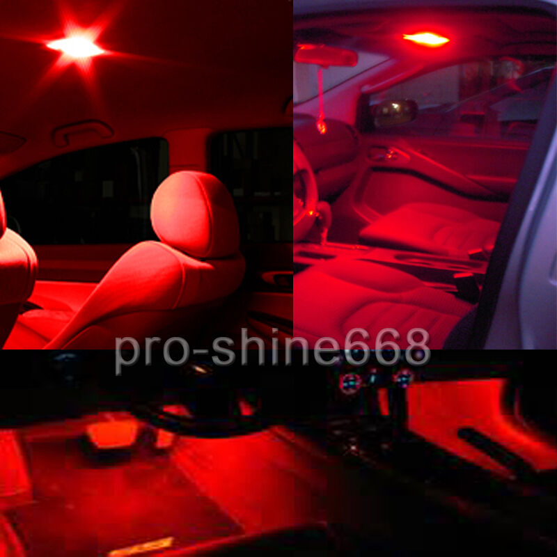 Newest Red Interior Led Lights Package Bulb Smd Lamp For 2015 2016 Ford Mustang