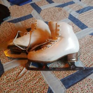 two pairs of figure skates size 5 and 6 1/2