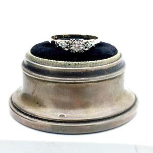 Vintage 14k Yellow Gold Diamond Engagement Ring. 0.16TCW