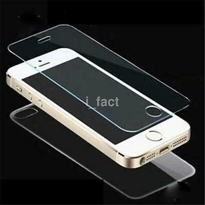 2.5D 9H Front+Back Colour Tempered Glass Screen Protector For iphone 5S/SE 6S AC