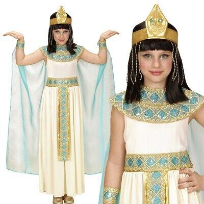 Cleopatra Ägypthische Gottheit Kinder Kostüm Komplettset für Mädchen 116 bis 158