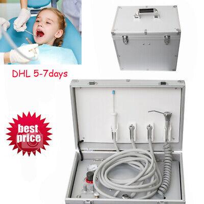 Portable Dental Turbine Unit Case Air Compressor Suction System Triplex Syringe