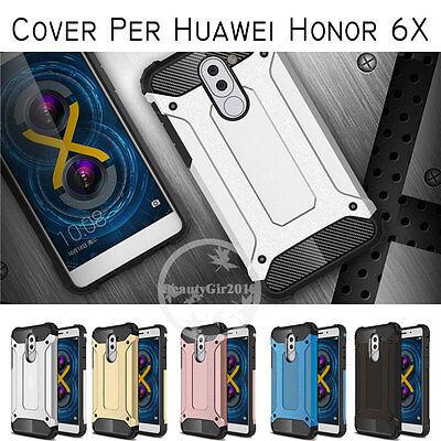 Cover custodia case per Huawei Honor 6X Silicone Gel Tpu+PC