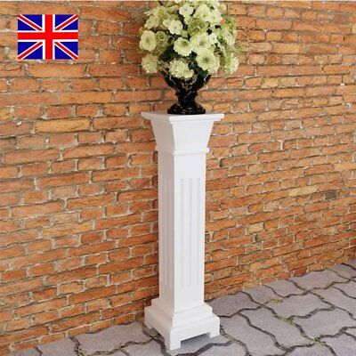 Flowers Potted Plant Stand Classic Square Pillar MDF Garden Wedding Yard Decor
