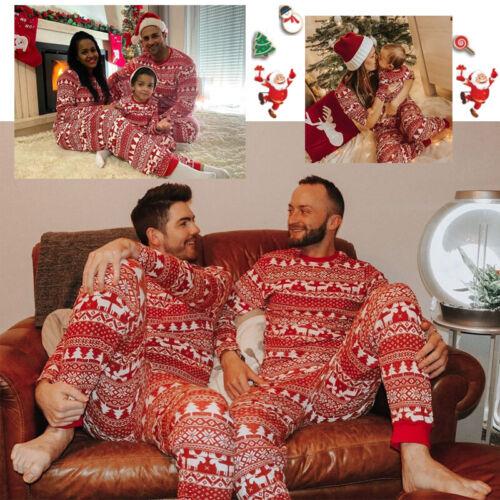 Familie Xmas Pyjama Erwachsene Jungen Mädchen Weihnachten Nachtwäsche Sets 2020