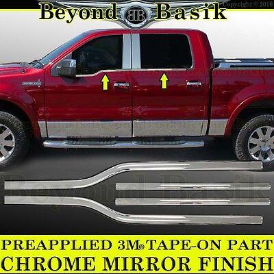 - 2006-2008 Lincoln Mark LT Crew Cab Chrome Window Sill Trims Covers Belt Line