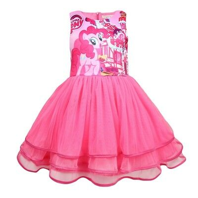 Girls Tutu Dress Kids My Little Pony Print  Casual Party Birthday Dresses - My Little Pony Tutu
