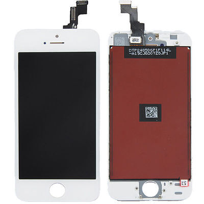 LCD Lens Touch Screen Display Digitizer Assembly Replacement for iPhone 5S White on Rummage