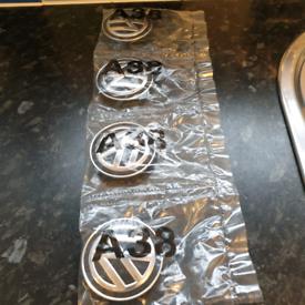 Brand new VW wheel badges