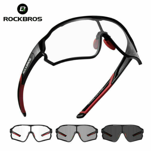 ROCKBROS Bike Photochromatic Glasses Cycling Full Frame Goggle Sports Sunglasses