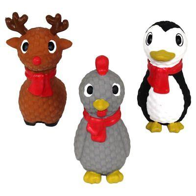 Nobby Latex Hundespielzeug - Huhn Elch Pinguin - Spiel für Hund - quitscht