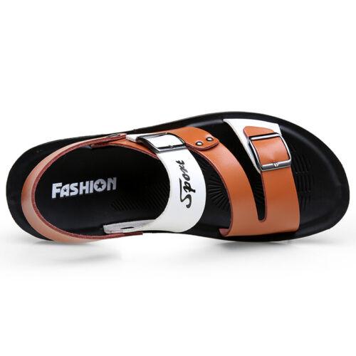 Mens Soft Open Toe Walking Non-slip Sand Summer Slingbacks Beach Sandals Shoes B