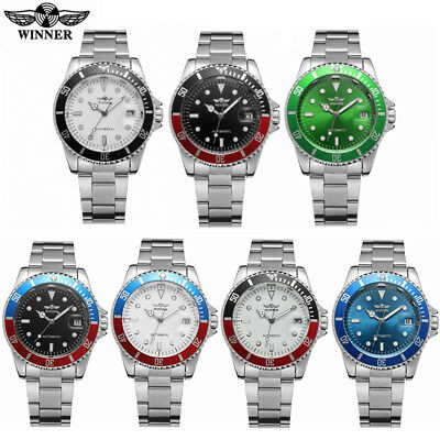 Mens Stainless Steel Luxury Military Business Automatic Mechanical Wrist Watches