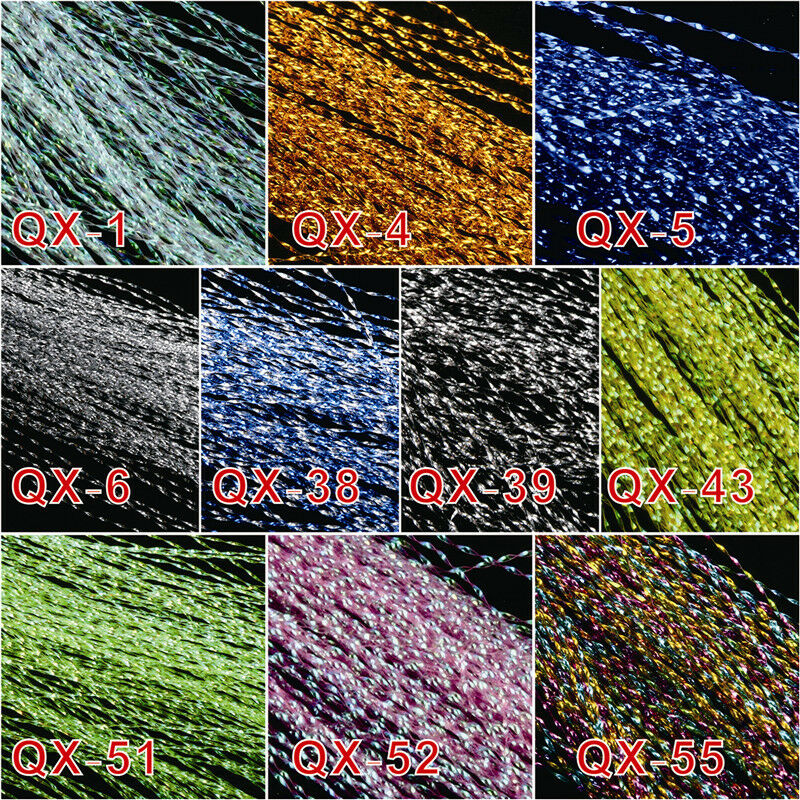 9-QX05 Pack of 150 Crystal Flash Fly Tying Material Fishing Lure Tying Making 7 Color
