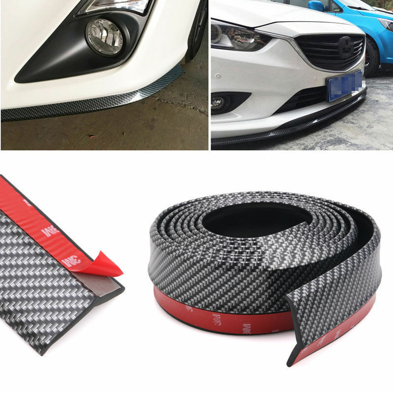 2.5M Carbon Fiber Car Front Bumper Lip Splitter Chin Spoiler Body Trim Strip New