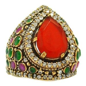 NEW  Gorgeous Ruby-Emerald Ring Size 9.5