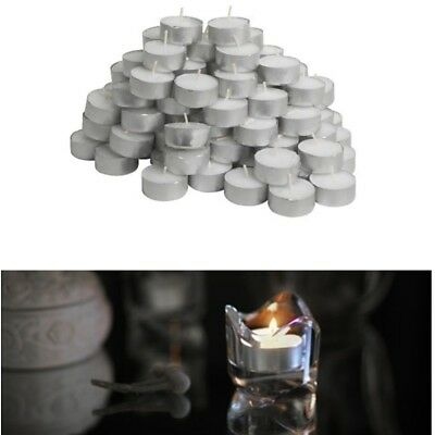 SET 100 CANDELE CERA TEA LIGHTS LUMINI TEALIGHTS CANDELINE