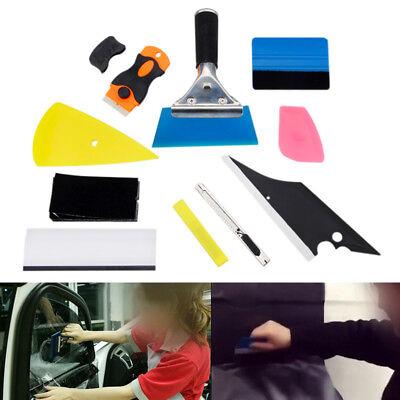 10pcs FELT EDGE SQUEEGEE VINYL PPF SIGN CAR WRAPPING WINDOW TINT SCRAP TOOL KITS