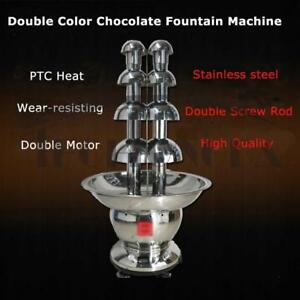 5 Tiers Commercial Double Color tainless Steel Luxury Chocolate Fountain 153100
