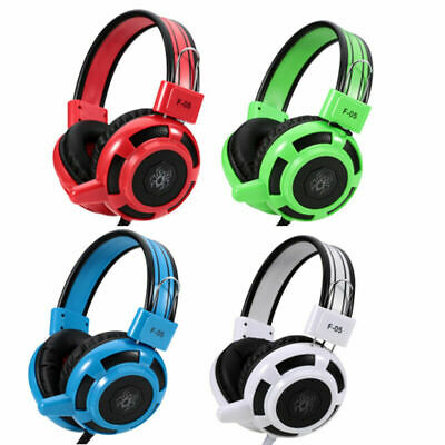Gaming Headset Headphone Stereo Bass Earphone with Microphone for PC Laptop
