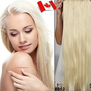 "Clip in hair extension,Straight hair,60 cm, 24"", Color #613 &..."