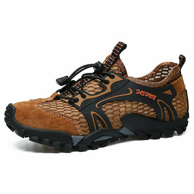 Men's Breathable Outdoor Climbing Water Shoes Hiking Non-slip Waterproof Mesh ()