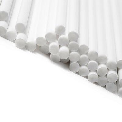 100 White Plastic Lollipop Lolly Cake Pop Sucker Sticks 7.5 inch long