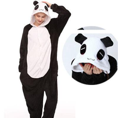 Panda Costume Adult (Panda Pajamas Onsies Adult Unisex Kigurumi Animal Cosplay Halloween Costume)