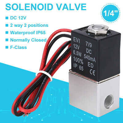 14 12v Dc Electric Solenoid Valve Air Gas Water Fuel Normally Closed 2 Way